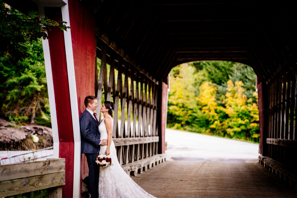 Covered Bridge Wedding photos vermont